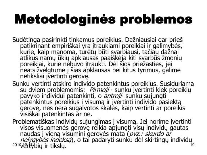 Metodologinės problemos