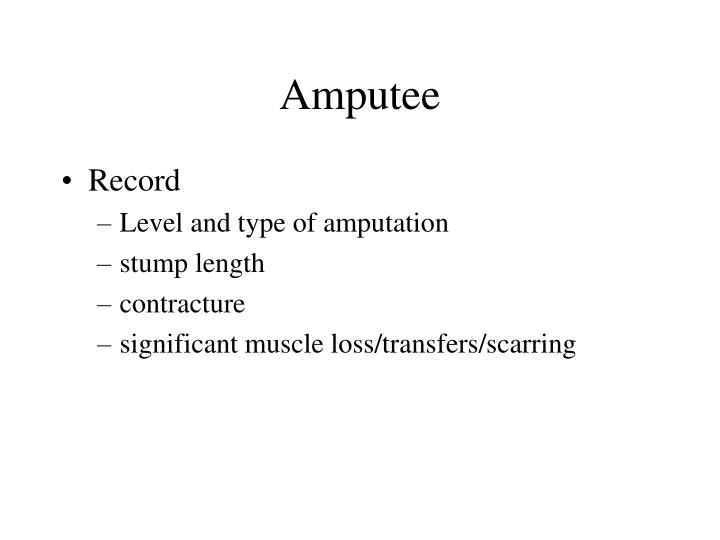 Amputee