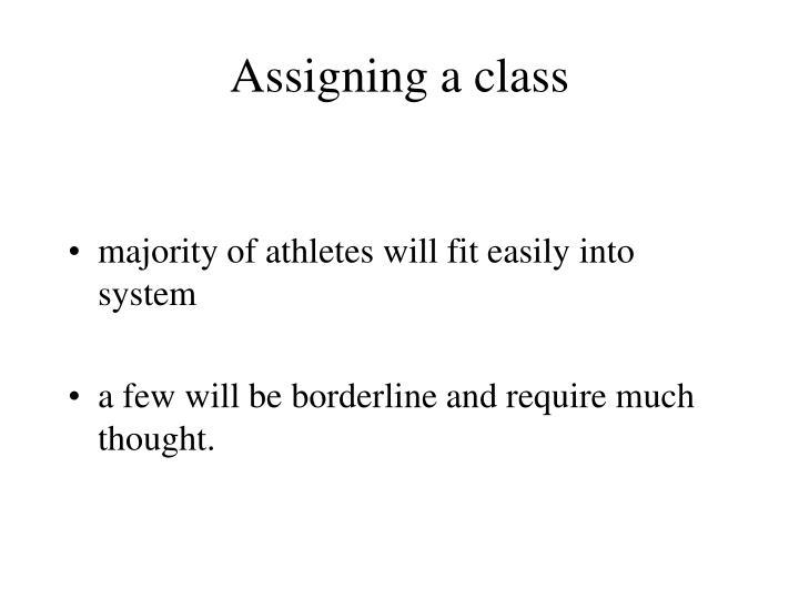 Assigning a class