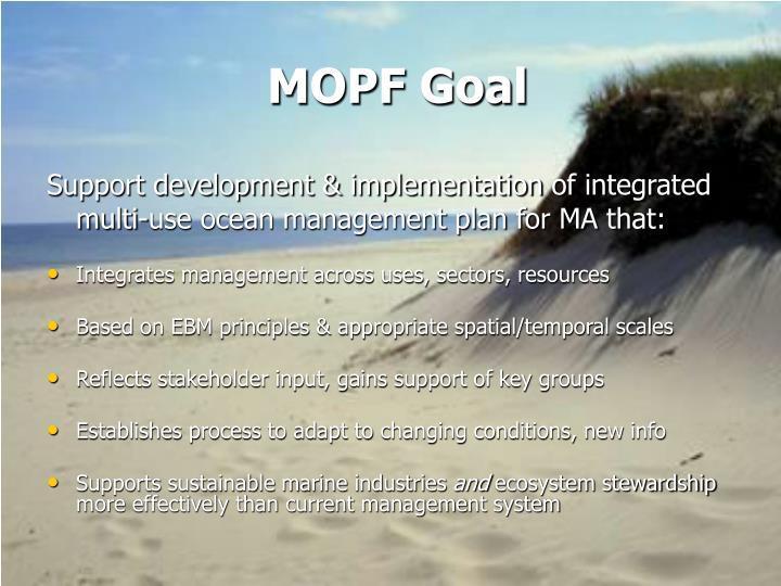 MOPF Goal