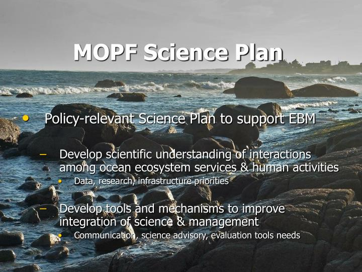 MOPF Science Plan