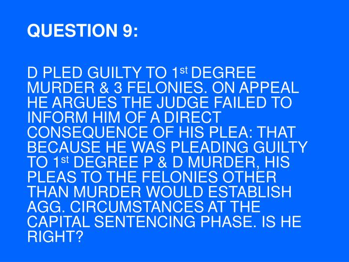 QUESTION 9: