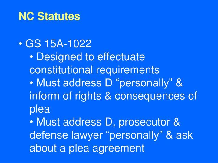 NC Statutes