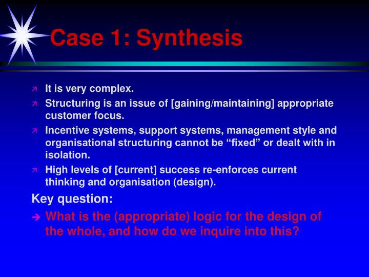 Case 1: Synthesis
