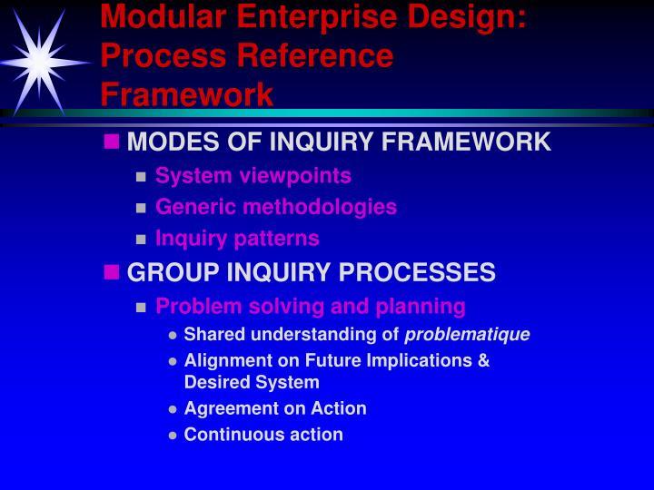 Modular Enterprise Design: