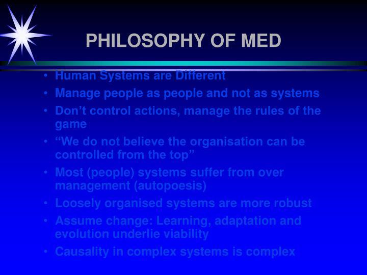PHILOSOPHY OF MED