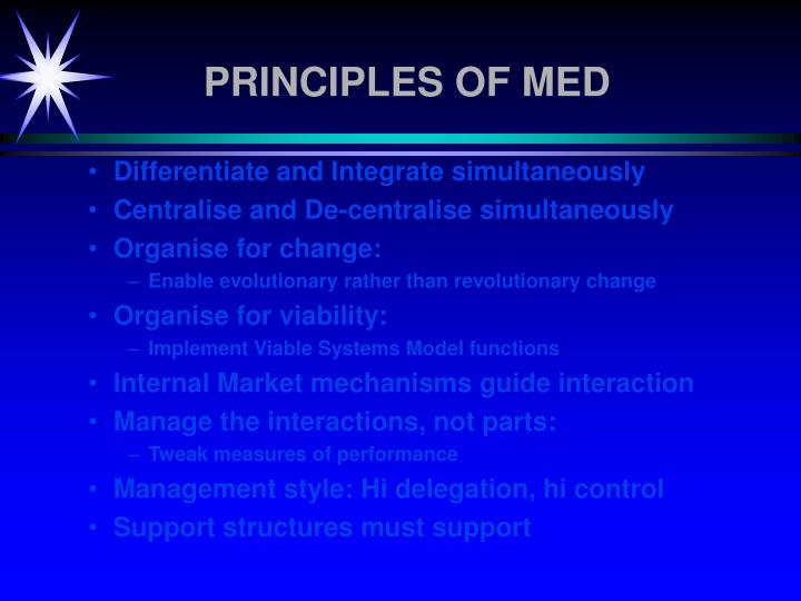 PRINCIPLES OF MED
