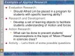 examples of applied research