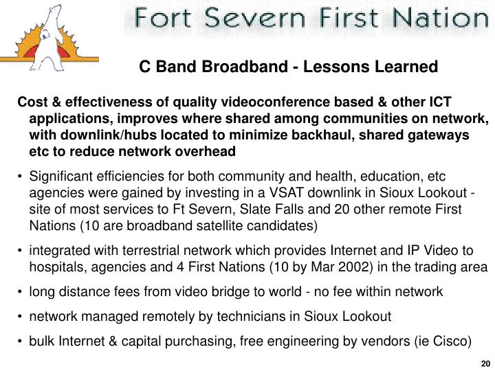 C Band Broadband - Lessons Learned