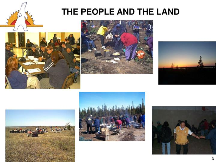 THE PEOPLE AND THE LAND