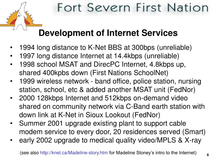 Development of Internet Services