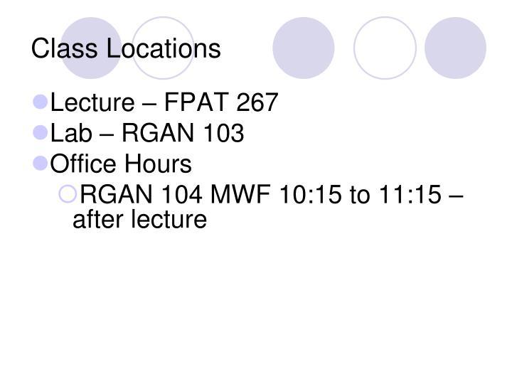 Class Locations