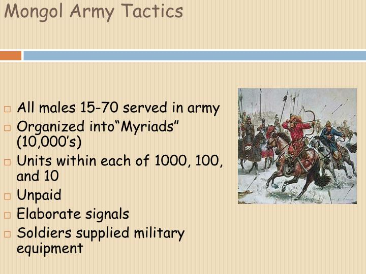 Mongol Army Tactics