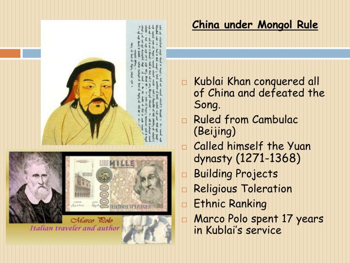 China under Mongol Rule