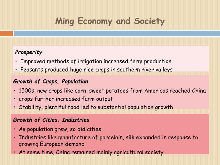Ming Economy and Society