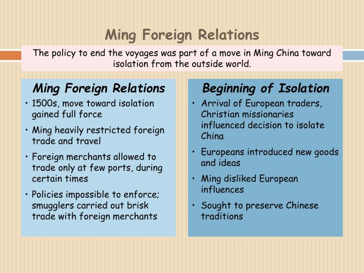 Ming Foreign Relations