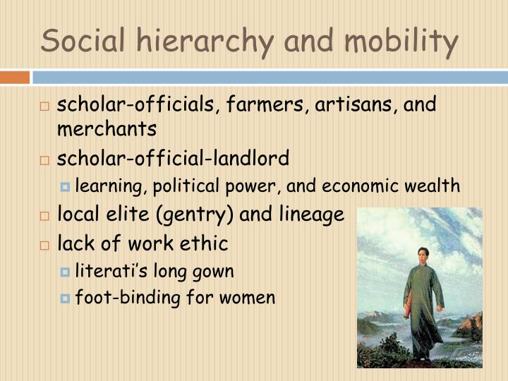 Social hierarchy and mobility