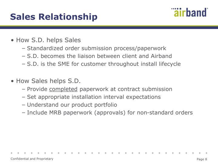 Sales Relationship