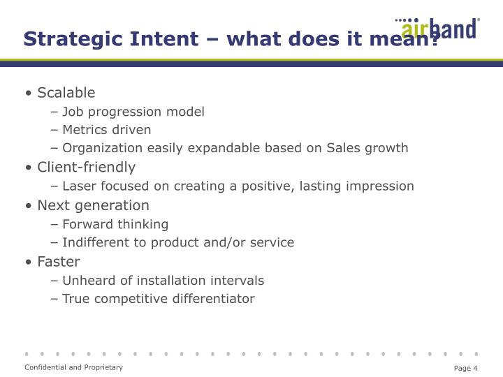 Strategic Intent – what does it mean?