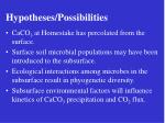 hypotheses possibilities