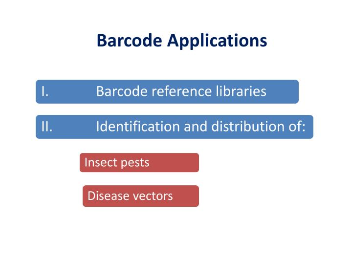 Barcode Applications