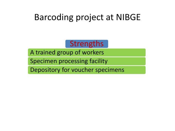 Barcoding project at NIBGE