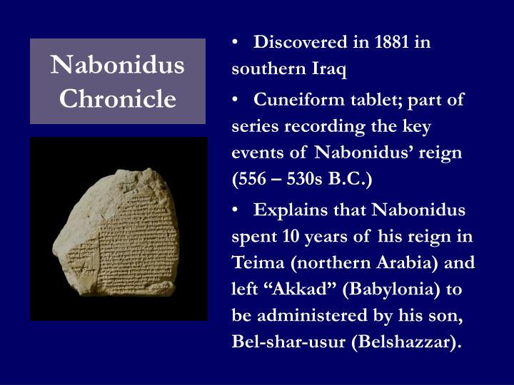 Nabonidus Chronicle