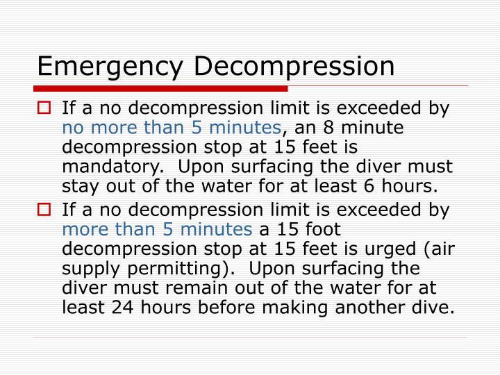 Emergency Decompression