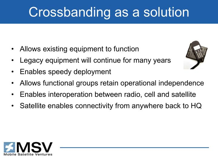 Crossbanding as a solution
