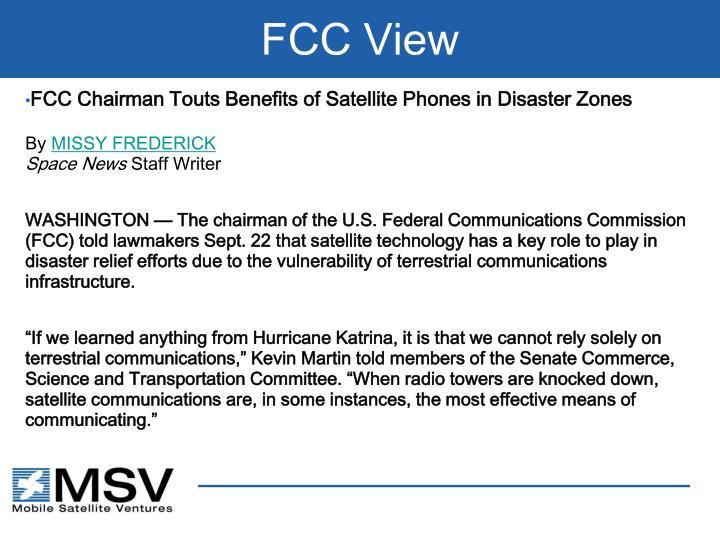 FCC View
