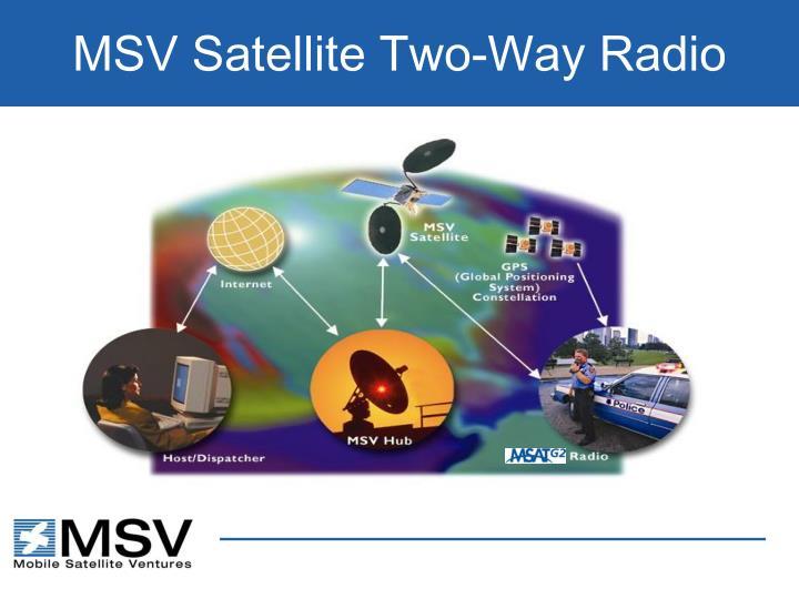 MSV Satellite Two-Way Radio