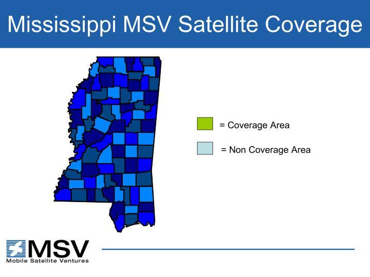 Mississippi MSV Satellite Coverage
