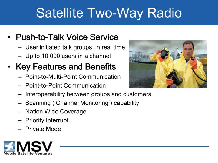 Satellite Two-Way Radio
