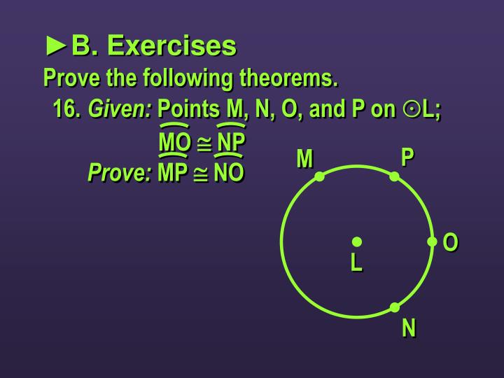 ►B. Exercises