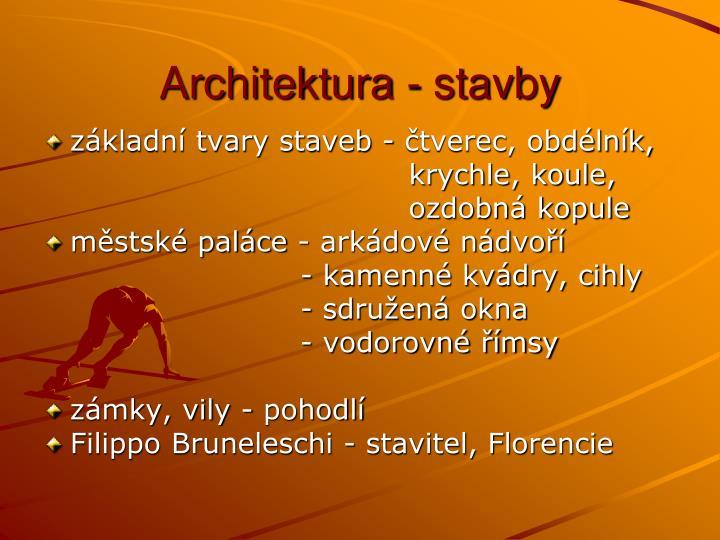 Architektura - stavby