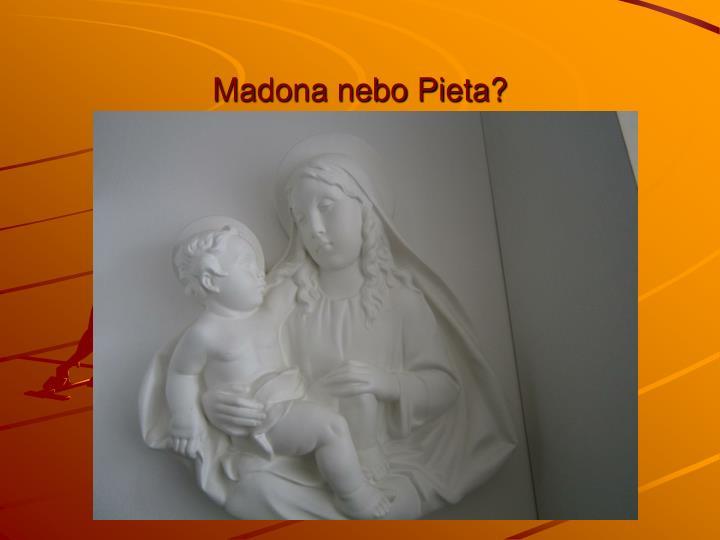 Madona nebo Pieta?