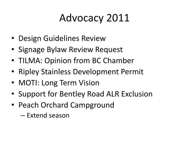 Advocacy 2011