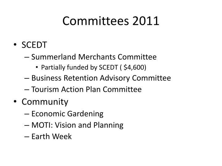 Committees 2011