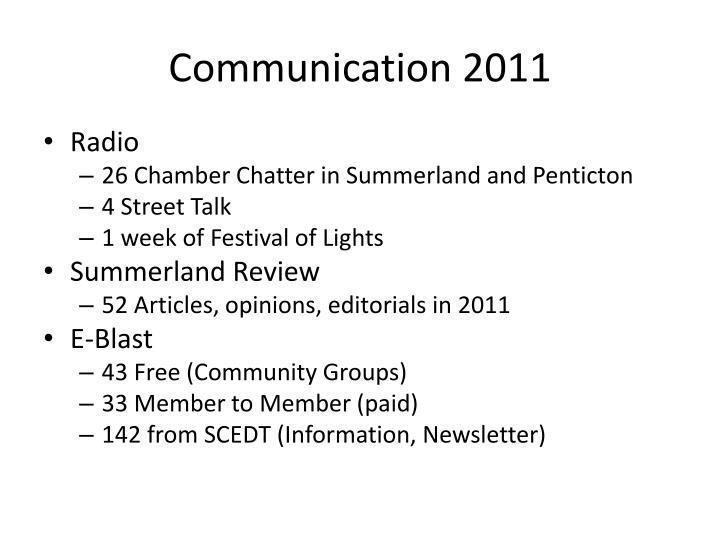 Communication 2011