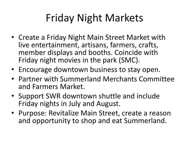 Friday Night Markets