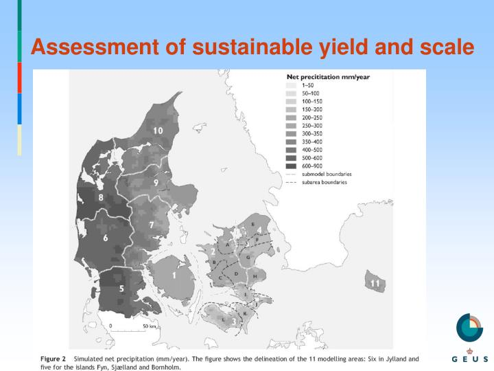 Assessment of sustainable yield and scale