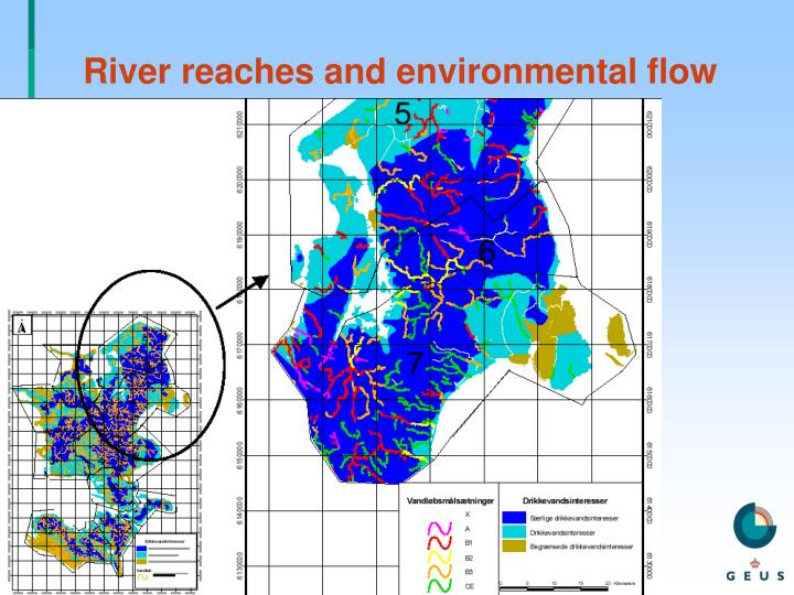 River reaches and environmental flow