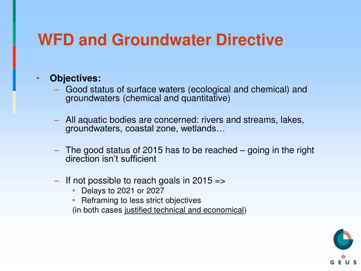 WFD and Groundwater Directive