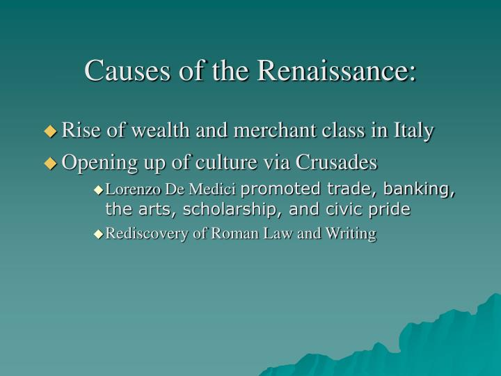 Causes of the Renaissance: