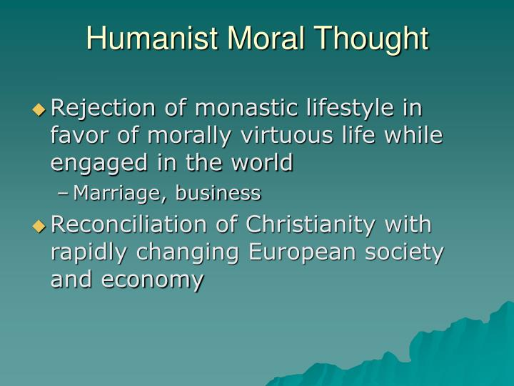 Humanist Moral Thought