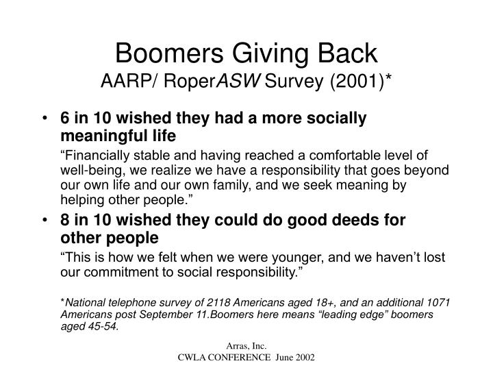 Boomers Giving Back