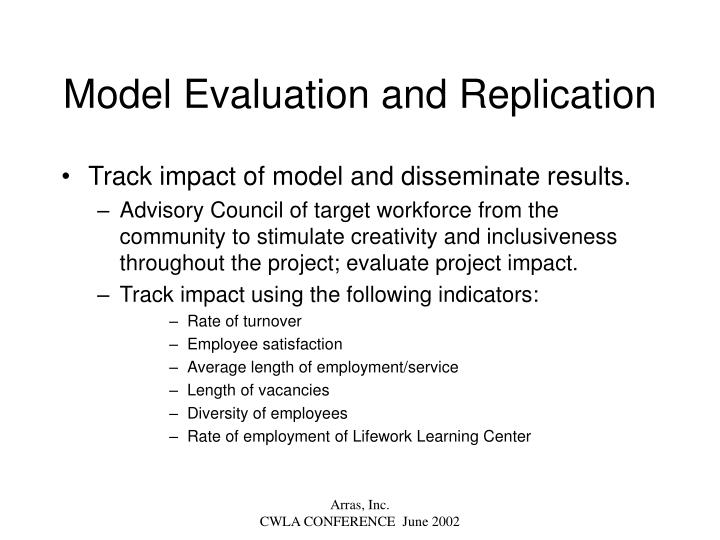 Model Evaluation and Replication