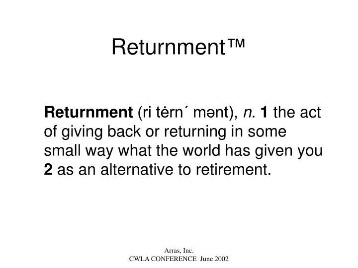 Returnment