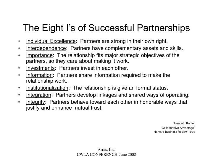 The Eight I's of Successful Partnerships