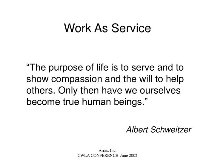 Work As Service